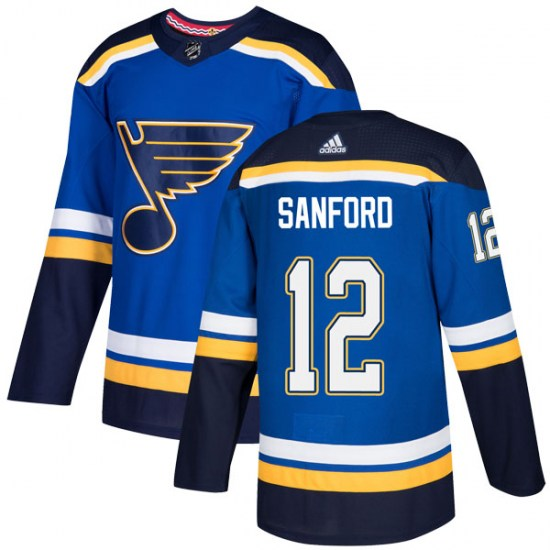 Zach Sanford St. Louis Blues Authentic Home Adidas Jersey - Blue