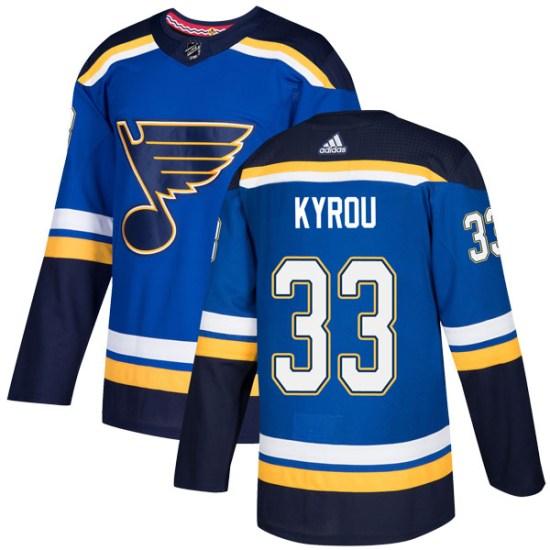 Jordan Kyrou St. Louis Blues Youth Authentic Home Adidas Jersey - Blue