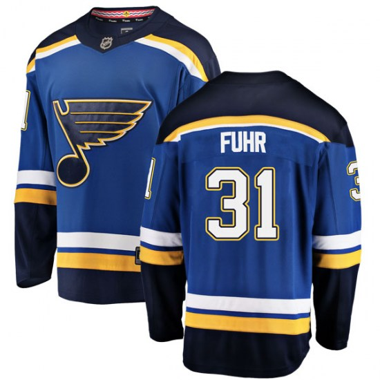 Grant Fuhr St. Louis Blues Youth Breakaway Home Fanatics Branded Jersey - Blue