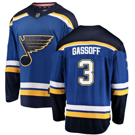 Bob Gassoff St. Louis Blues Youth Breakaway Home Fanatics Branded Jersey - Blue
