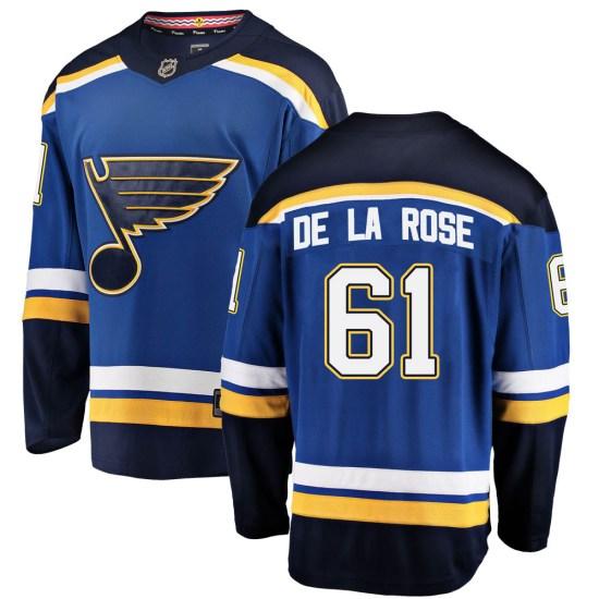Jacob De La Rose St. Louis Blues Breakaway Home Fanatics Branded Jersey - Blue