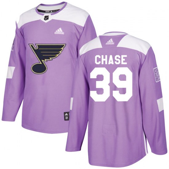 Kelly Chase St. Louis Blues Authentic Hockey Fights Cancer Adidas Jersey - Purple