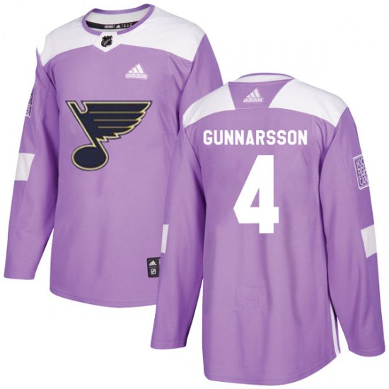 Carl Gunnarsson St. Louis Blues Authentic Hockey Fights Cancer Adidas Jersey - Purple