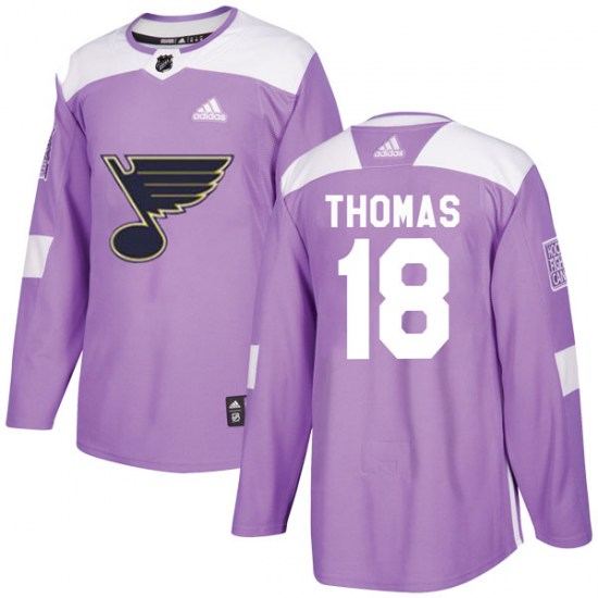 Robert Thomas St. Louis Blues Authentic Hockey Fights Cancer Adidas Jersey - Purple