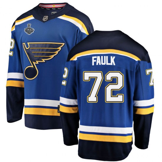 Justin Faulk St. Louis Blues Youth Breakaway Home 2019 Stanley Cup Final Bound Fanatics Branded Jersey - Blue
