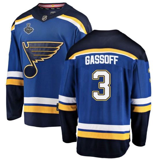 Bob Gassoff St. Louis Blues Youth Breakaway Home 2019 Stanley Cup Final Bound Fanatics Branded Jersey - Blue