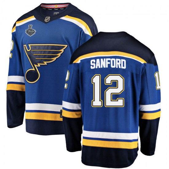 Zach Sanford St. Louis Blues Youth Breakaway Home 2019 Stanley Cup Final Bound Fanatics Branded Jersey - Blue