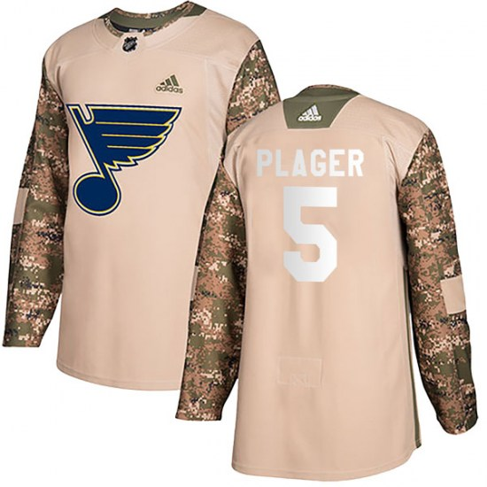 Bob Plager St. Louis Blues Youth Authentic Veterans Day Practice Adidas Jersey - Camo