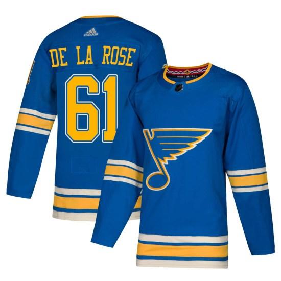 Jacob De La Rose St. Louis Blues Youth Authentic Alternate Adidas Jersey - Blue