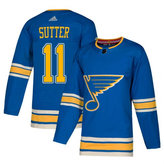 Brian Sutter St. Louis Blues Youth Authentic Alternate Adidas Jersey - Blue