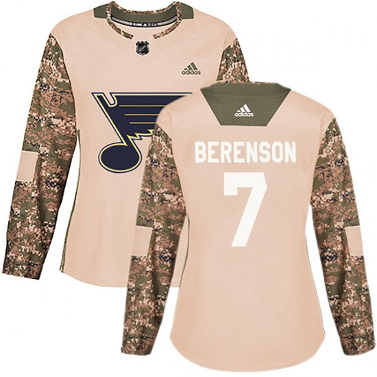 Red Berenson St. Louis Blues Women's Authentic Camo Veterans Day Practice Adidas Jersey - Red