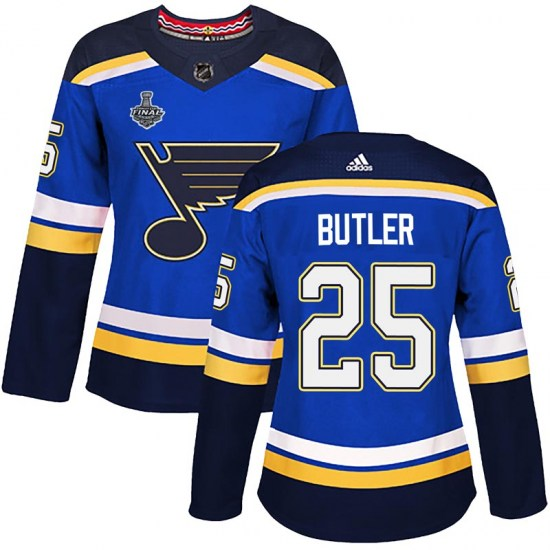 Chris Butler St. Louis Blues Women's Authentic Home 2019 Stanley Cup Final Bound Adidas Jersey - Blue