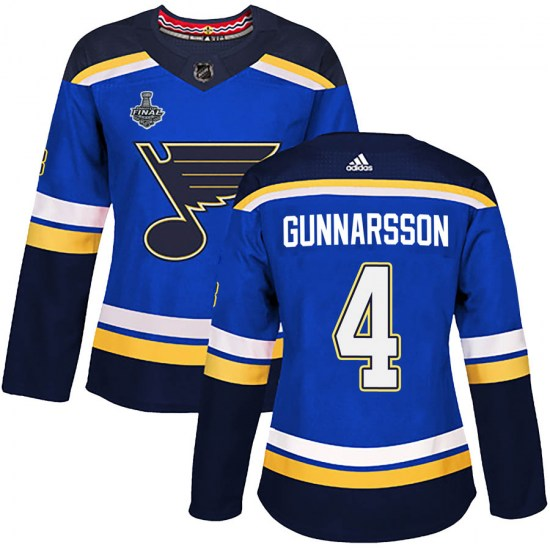 Carl Gunnarsson St. Louis Blues Women's Authentic Home 2019 Stanley Cup Final Bound Adidas Jersey - Blue