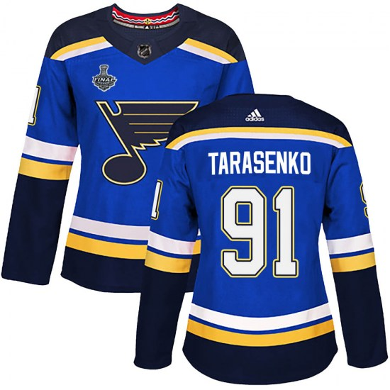 Vladimir Tarasenko St. Louis Blues Women's Authentic Home 2019 Stanley Cup Final Bound Adidas Jersey - Blue