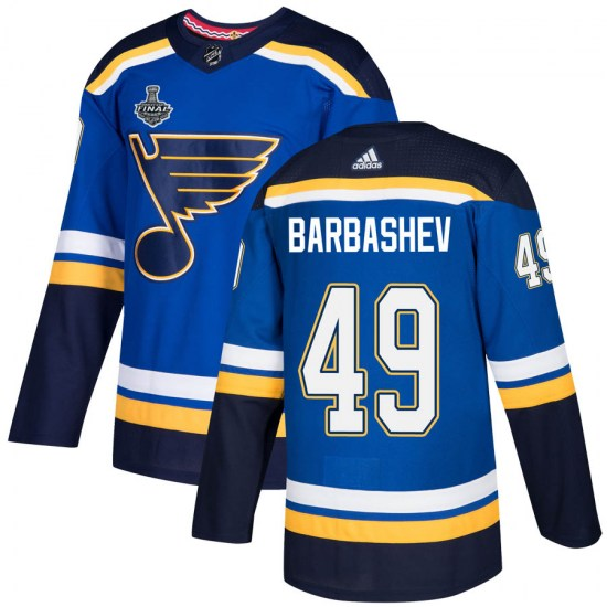 Ivan Barbashev St. Louis Blues Authentic Home 2019 Stanley Cup Final Bound Adidas Jersey - Blue