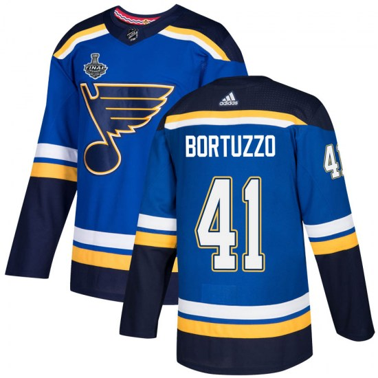Robert Bortuzzo St. Louis Blues Authentic Home 2019 Stanley Cup Final Bound Adidas Jersey - Blue