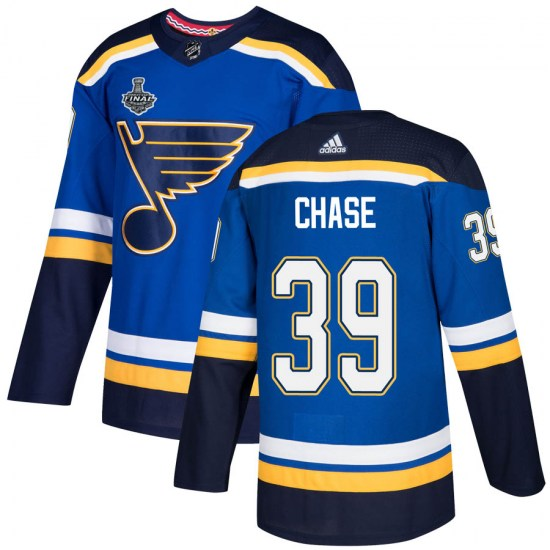Kelly Chase St. Louis Blues Authentic Home 2019 Stanley Cup Final Bound Adidas Jersey - Blue