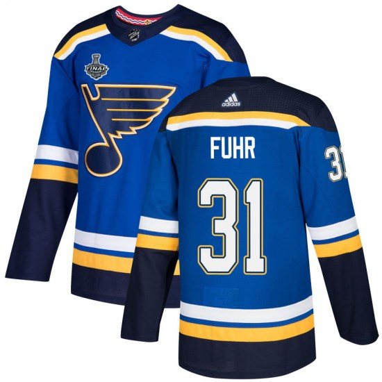 Grant Fuhr St. Louis Blues Authentic Home 2019 Stanley Cup Final Bound Adidas Jersey - Blue