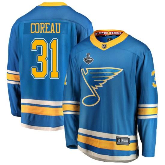 Jared Coreau St. Louis Blues Breakaway Alternate 2019 Stanley Cup Final Bound Fanatics Branded Jersey - Blue
