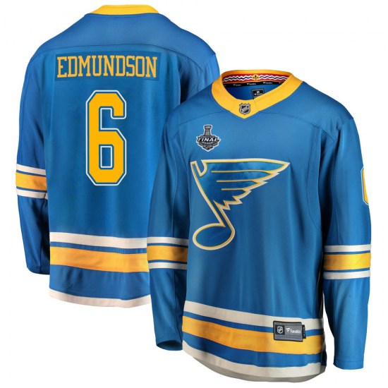 Joel Edmundson St. Louis Blues Breakaway Alternate 2019 Stanley Cup Final Bound Fanatics Branded Jersey - Blue