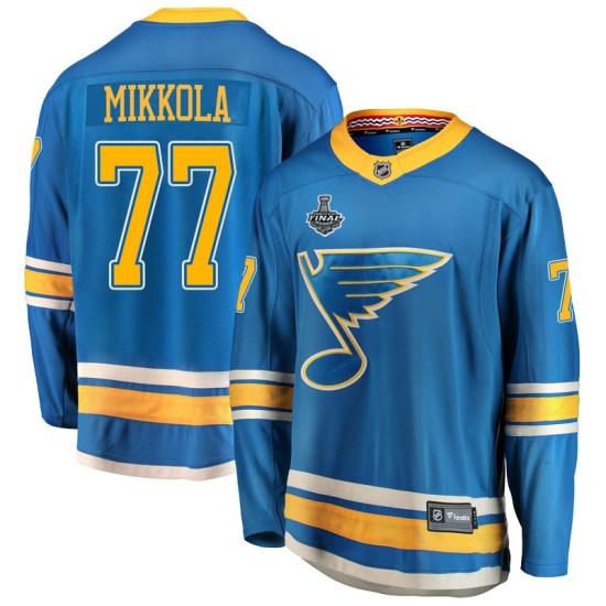 Niko Mikkola St. Louis Blues Breakaway Alternate 2019 Stanley Cup Final Bound Fanatics Branded Jersey - Blue