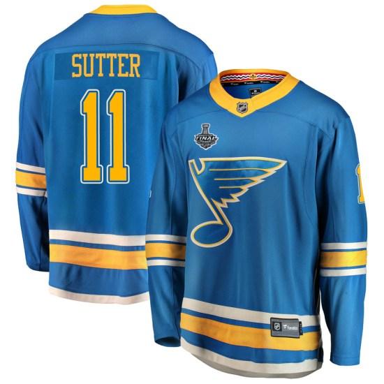 Brian Sutter St. Louis Blues Breakaway Alternate 2019 Stanley Cup Final Bound Fanatics Branded Jersey - Blue