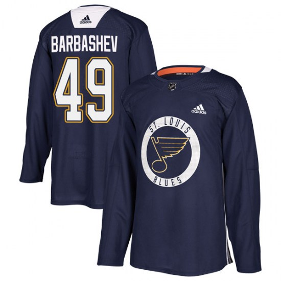 Ivan Barbashev St. Louis Blues Authentic Practice Adidas Jersey - Blue