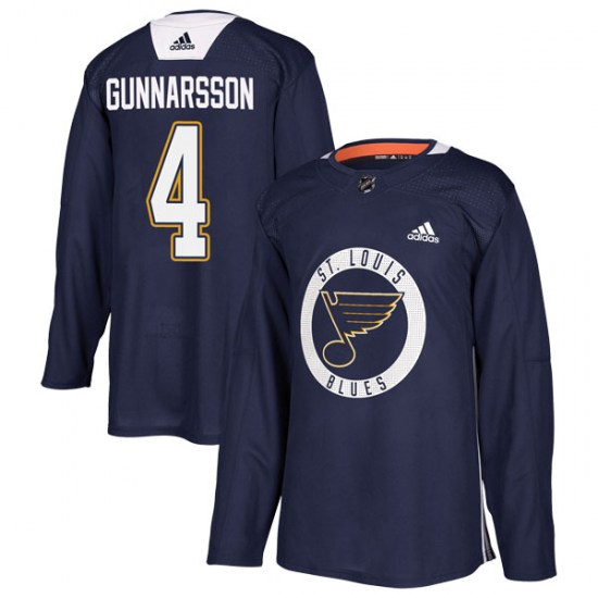 Carl Gunnarsson St. Louis Blues Authentic Practice Adidas Jersey - Blue