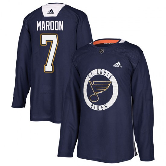 Patrick Maroon St. Louis Blues Authentic Practice Adidas Jersey - Blue