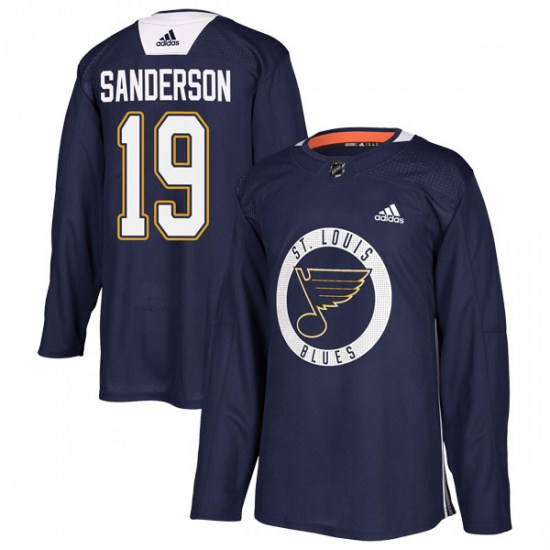 Derek Sanderson St. Louis Blues Authentic Practice Adidas Jersey - Blue