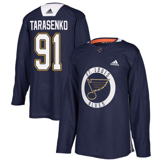Vladimir Tarasenko St. Louis Blues Authentic Practice Adidas Jersey - Blue