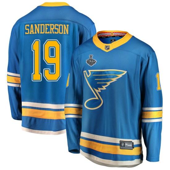 Derek Sanderson St. Louis Blues Youth Breakaway Alternate 2019 Stanley Cup Final Bound Fanatics Branded Jersey - Blue