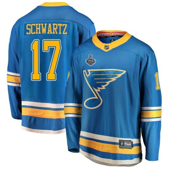 Jaden Schwartz St. Louis Blues Youth Breakaway Alternate 2019 Stanley Cup Final Bound Fanatics Branded Jersey - Blue