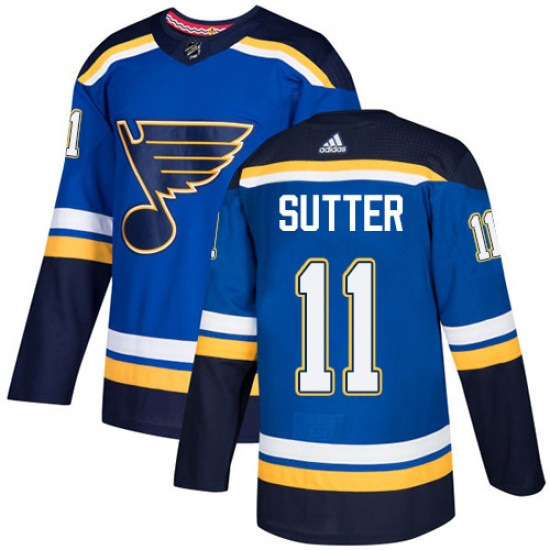 Brian Sutter St. Louis Blues Youth Authentic Home Adidas Jersey - Royal Blue