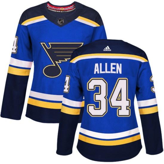 Jake Allen St. Louis Blues Women's Authentic Home Adidas Jersey - Royal Blue