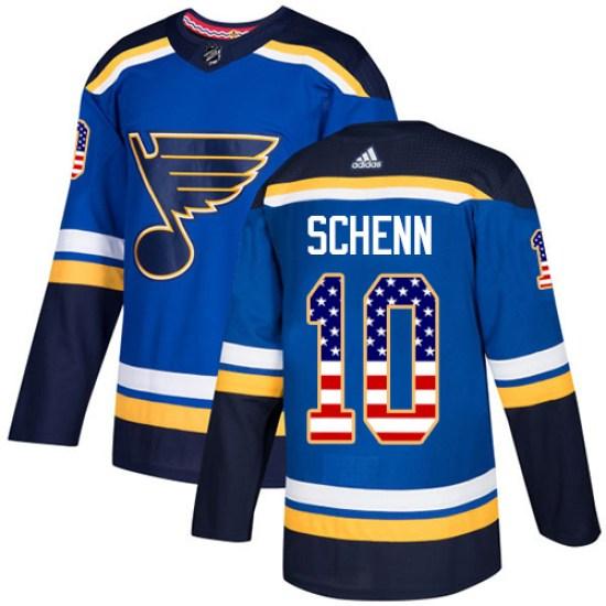 Brayden Schenn St. Louis Blues Authentic USA Flag Fashion Adidas Jersey - Blue