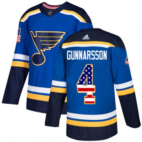 Carl Gunnarsson St. Louis Blues Authentic USA Flag Fashion Adidas Jersey - Blue