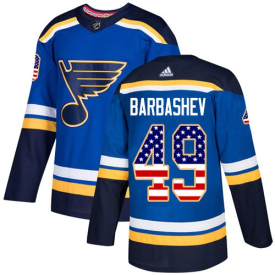 Ivan Barbashev St. Louis Blues Authentic USA Flag Fashion Adidas Jersey - Blue