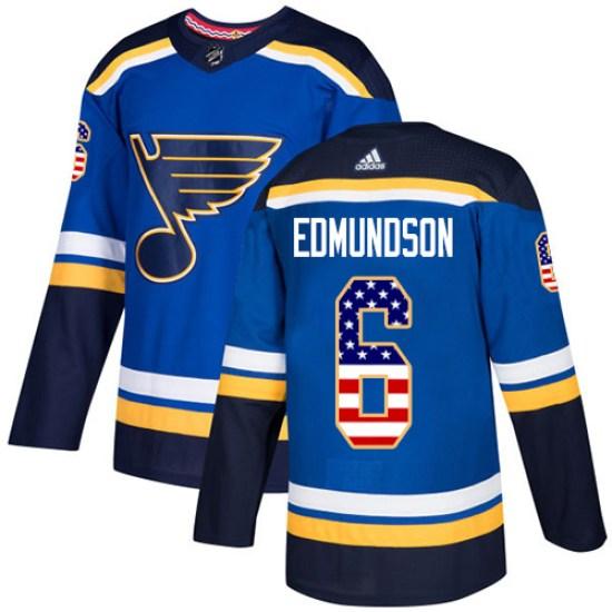 Joel Edmundson St. Louis Blues Youth Authentic USA Flag Fashion Adidas Jersey - Blue