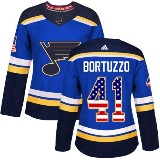 Robert Bortuzzo St. Louis Blues Women's Authentic USA Flag Fashion Adidas Jersey - Blue