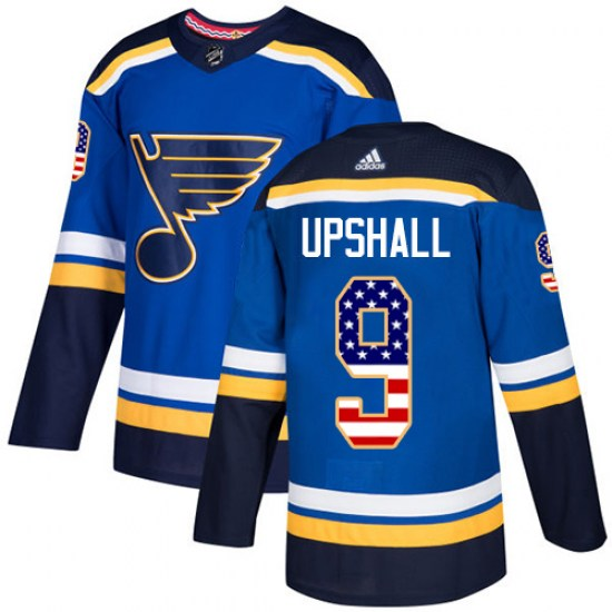Scottie Upshall St. Louis Blues Youth Authentic USA Flag Fashion Adidas Jersey - Blue