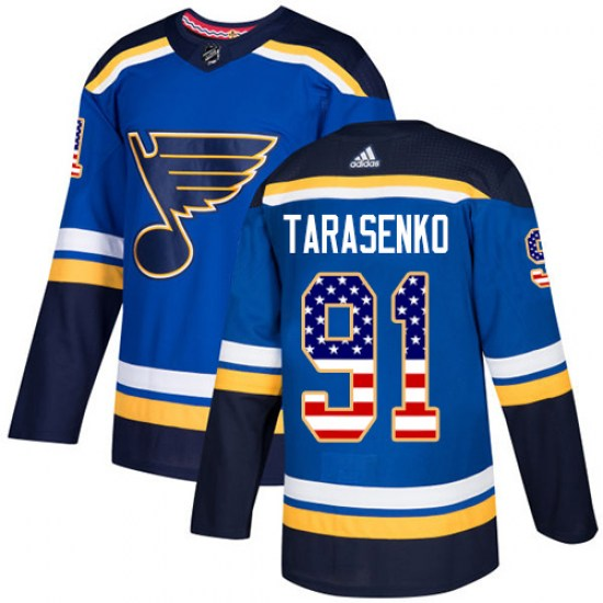 Vladimir Tarasenko St. Louis Blues Authentic USA Flag Fashion Adidas Jersey - Blue